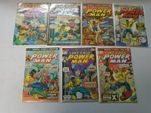 Luke Cage Power Man lot 14 diff 25c covers from #20-34 avg 5.0 VG FN (1974-76)