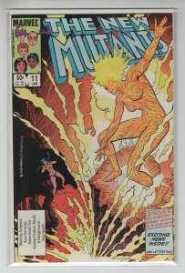 NEW MUTANTS (1983 MARVEL) #11 VF+ A99890