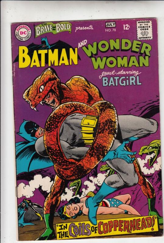 Brave and the Bold, The #78 (Jul-68) VF+ High-Grade Batman