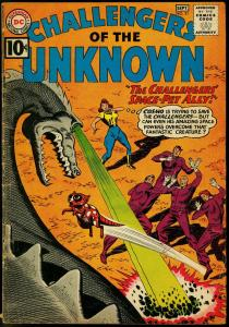 CHALLENGERS OF THE UNKNOWN #21 MONSTERS & ALIENS 1961 VG