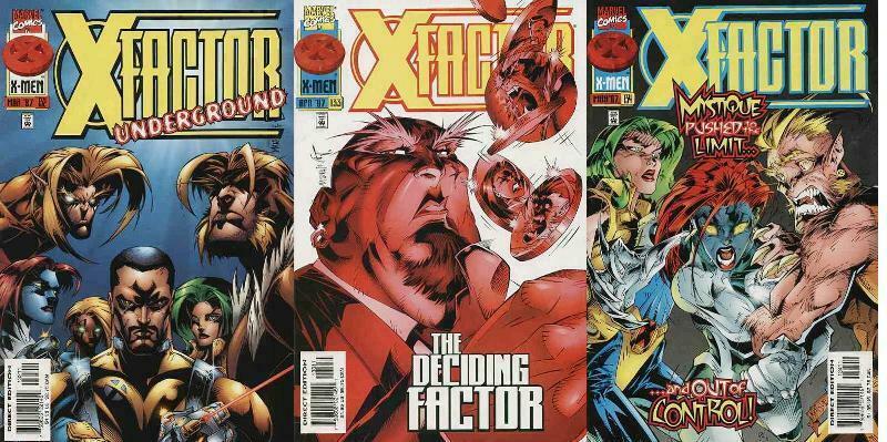 X FACTOR 132-134  UNDERGROUND  Mystique & Sabretooth