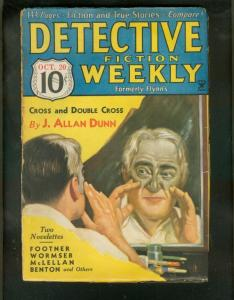 DETECTIVE FICTION WEEKLY PULP- 10/20/34-DOUBLE CROSS    G-