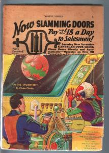 WONDER STORIES 1931 JUN-SCI FI ALIEN PULP-FRANK R PAUL FR/G