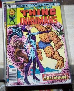 Marvel Two-In-One #72 (Feb 1981, Marvel) the thing + inhumans malestorm