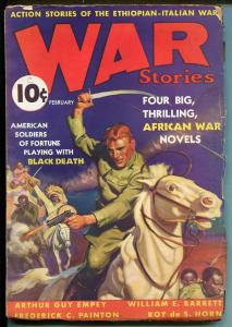 WAR STORIES #1  2/1938-DELL-TERENCE X O'LEARY-GEORGE ROZEN-PULP FICTION-EMPEY-vg