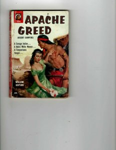 3 Books Apache Greed Bogart and Bacall The Jim Thorpe Story Western JK11
