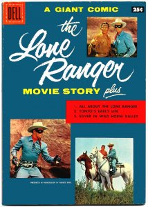 THE LONE RANGER MOVIE STORY (1956) 8.0 VF  Dell Giant! Hi-Yo Silver,100 pages!