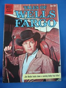 FOUR COLOR 1113 TALES OF WELLS FARGO Fine Very Fine 1960 Photo Cover