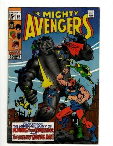Avengers # 69 VF Marvel Comic Book Hulk Thor Captain America Iron Man OF2
