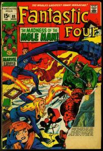 FANTASTIC FOUR #89 1969-JACK KIRBY-MARVEL-MOLE MAN FR