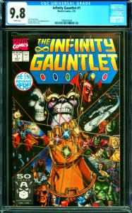 Infinity Gauntlet #1 CGC Graded 9.8 Jim Starlin Story