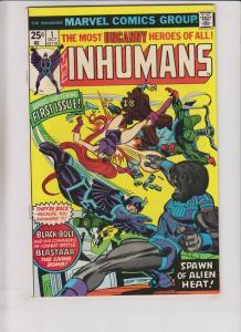Inhumans #1 VF doug moench - george perez - marvel comics bronze age 1975