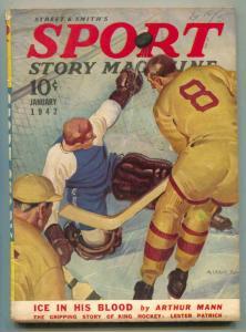 Sport Story Pulp January 1942- Lester Patrick VG/F