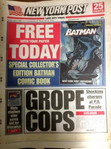 New York Post Batman June 13, 2005 Wholesale Lot (x15) Good Condition NO COMIC