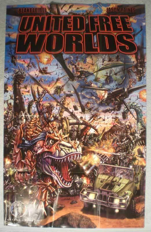 UNITED FREE WORLDS Promo Poster, 24x38, 2006, Unused, more Promos in store