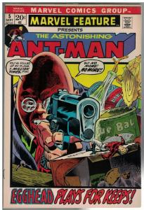 MARVEL FEATURE (1971) 5 F-VF  ANTMAN  Sept. 1972