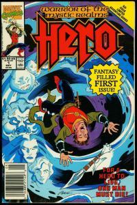 Hero #1 1990- Marvel first issue- High Grade Copy