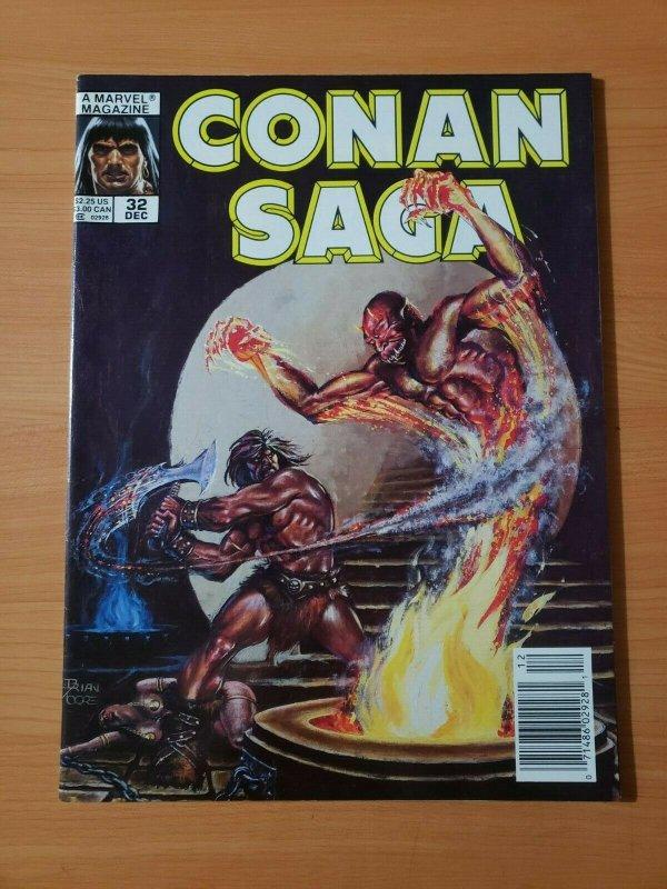 Conan Saga #32 ~ NEAR MINT NM ~ 1989 Marvel Comics