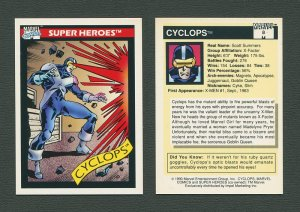 1990 Marvel Comics Card  #8 (Cyclops) / MINT