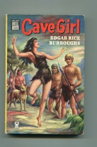 CAVE GIRL #320 1950'S-DELL MAPBACK PAPERBACK-EDGAR RICE BURROUGHS-fn