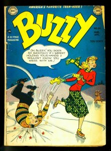 Buzzy #24 1949- DC Teen Humor -Ice skating cover - G/VG
