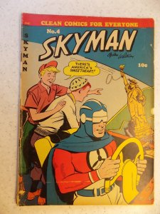 SKYMAN # 4 GOLDEN AGE ACTION ADVENTURE COLUMBIA OGDEN WHITNEY