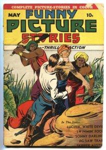 Funny Picture Stories Vol. 3 #3 1939-Last issue-RARE Centaur comic book