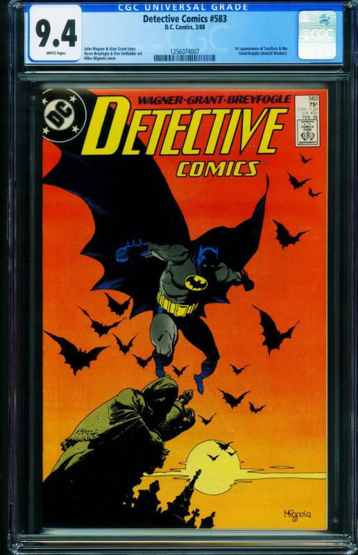 Detective Comics #583 CGC 9.4 1988-1st SCARFACE and VENTRILOQUIST 1256074007