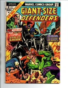 Defenders Giant Size #2 - Dr Strange - Hulk - Namor - Son of Satan -1974 - FN/VF