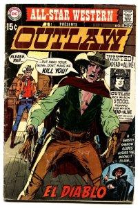 All-Star Western #2 1970 comic book 1st El Diablo- Hot Book- Neal Adams