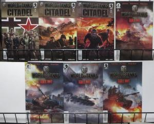 WORLD OF TANKS SAMPLER!(DARK HORSE)7 BOOKS- Citadel, Roll Out. VF-NM,Garth Ennis
