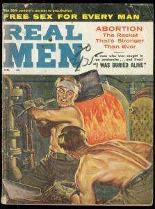 REAL MEN-APR 1962-CHEESECAKE-CIRCUS OF VICE-WILD COVER G/VG