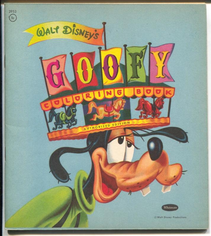 Goofy Coloring Book-Walt Disney #2952-Whitman-unused-VF- / HipComic