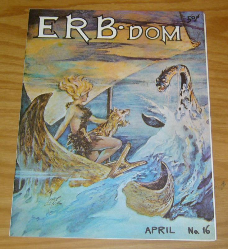ERB-Dom #16 VF- april 1966 - larry iviel cover - edgar rice burroughs fanzine