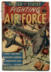 United States Fighting Air Force #6 1954- war comic G