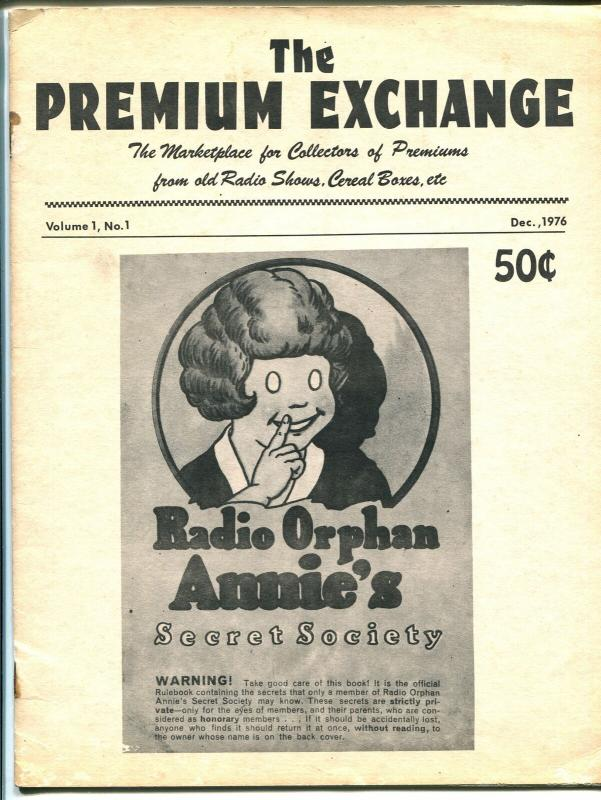 Premium Exchange #1 1976-Tom Mix-radio & cereal premiums-info-sale ads-G/VG