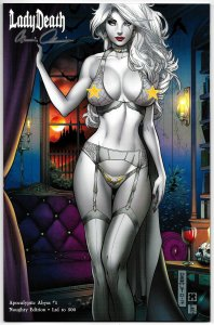 Lady Death Apocalyptic Abyss #1 Naughty Edition Ltd to 500 Signed w/COA (NM)