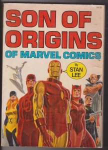 SON OF ORIGINS of MARVEL COMICS by STAN LEE 1975 VG - ROMITA COVER / IRON-MAN