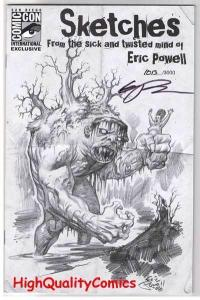 SKETCHES, SICK & TWISTED MIND, Signed by Eric Powell, NM, more EP in store