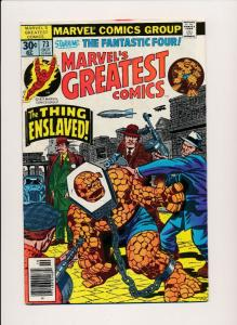Marvel's Greatest Comics FANTASTIC FOUR #73 The Thing Enslaved ~ FN (HX607)