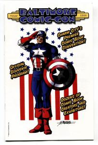 Baltimore Comic-Con 2000 PROGRAM Captain America George Perez cover