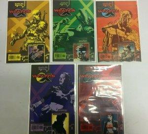 Weapon X #1s set Agent Zero Kane Wild Child Sauron Marrow 5 books 8.0 VF (2002)