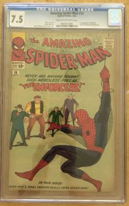 THE AMAZING SPIDER-MAN #10 CGC 7.5 -- 1ST ENFORCERS & BIG MAN LEE / DITKO