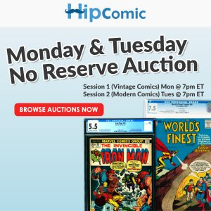 The 180th HipComic No Reserve Auction Event