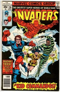 INVADERS #28, FN/VF, Captain America, Kid Commandos, 1975, more in store