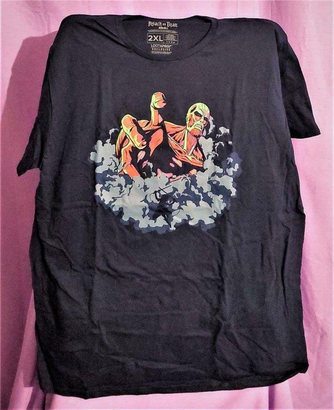 Loot Crate Exclusive ATTACK ON TITAN T-Shirt 2XL (Loot Wear Originall)!
