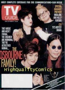 OSBOURNE Family TV Guide Magazine size, Photo, Ozzy, Sharon, Kelly, Jack, 2002