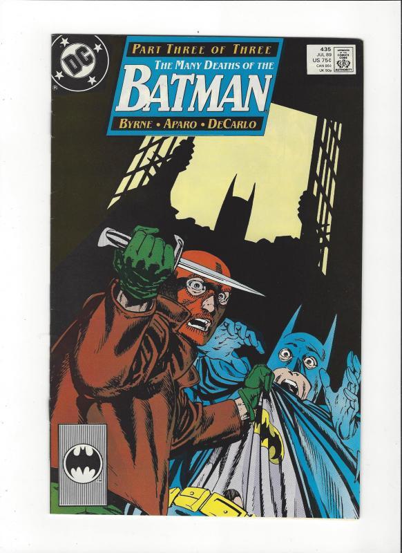 Batman #435 Mnay Deaths of Batman  VF