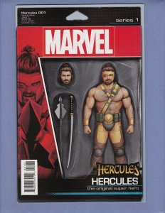 Hercules #1 NM- Action Figure Variant Cover Marvel 2016
