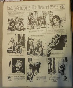 Prince Valiant by Hal Foster Syndicate Proof 11/12/1939  Size 16 x 20 inches